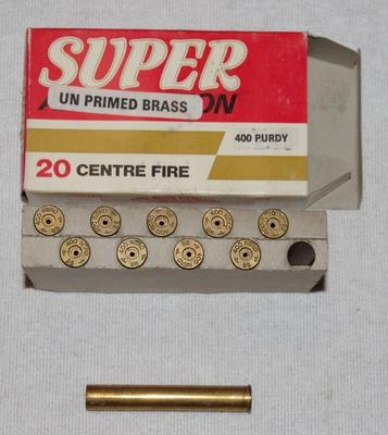 Nye hylster / Super UN PRIMED BRASS - 400 PURDY
