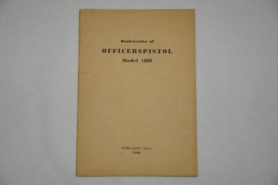 Brochure/tegning Officerspistol Model 1880