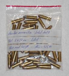 Revolver ammunition: Lebel 8 x 27 mm.